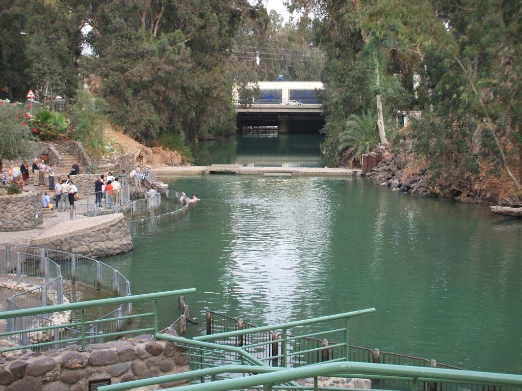 El río Jordán y la represa de Degania.